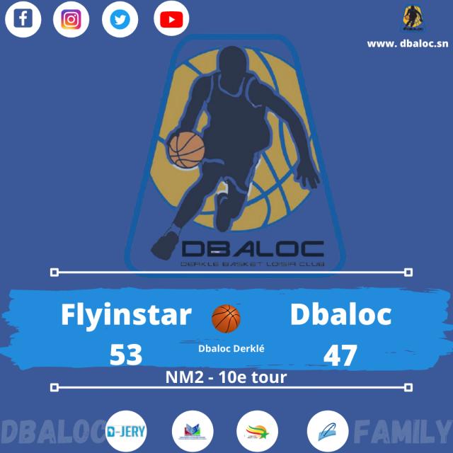 #Dbalocfamily 10e journée de NM2: Les garçons de Dbaloc battus par Flyinstar (47-53)